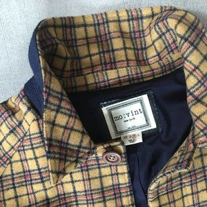 Saffron Mini Plaid Lightweight Trench Jacket